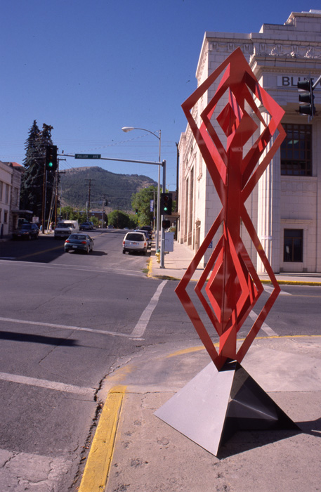 Sculpture by Richard Swanson: Double Diamond