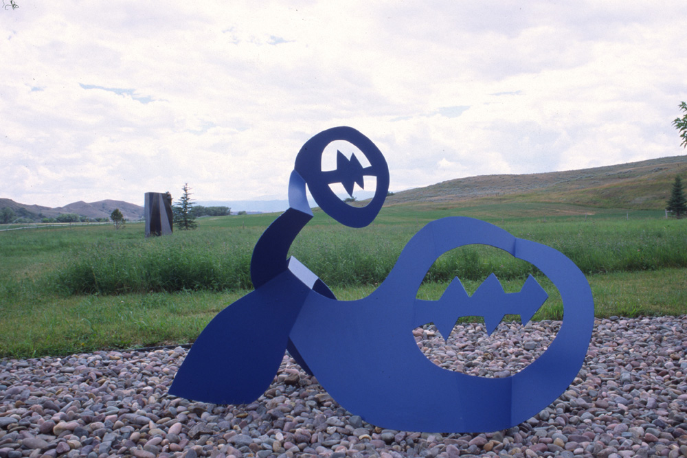Sculpture by Richard Swanson: Reclining Blue