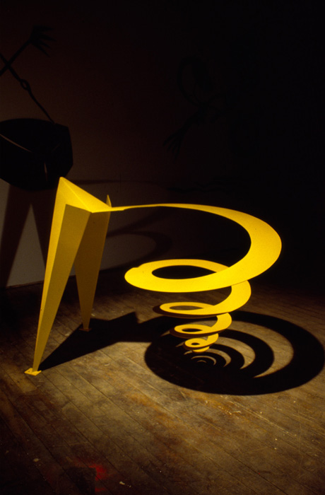 Sculpture by Richard Swanson: Yellow Vortex