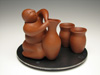 Sculptural Teapots by Richard Swanson: Happy Potter Sake Set